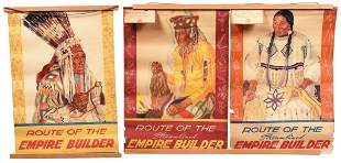"""Lot Of 3 Vintage """"Route Of The Empire Builder"""" Calendar"""
