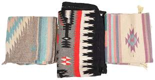 Lot Of 3 Native American Lap Blankets