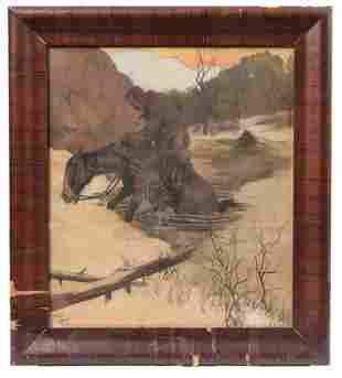 Paul Gregg Framed Painting