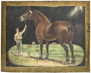 Antique Dr. LeGear Tin Lithograph Advertising Sign