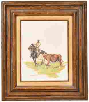 Harold Hopkinson Oil On Canvas Painting