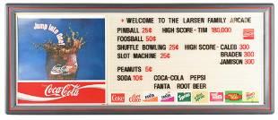 Coca-Cola w/Wave Logo Plastic Lighted Menu Sign