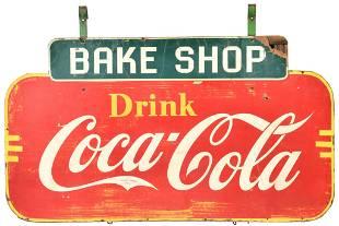 """Drink Coca-Cola """"Bake Shop"""" Masonite Sign"""