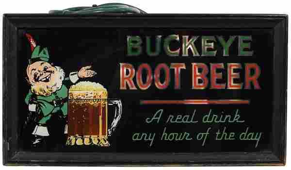 Buckeye Root Beer w/Logo Light Sign