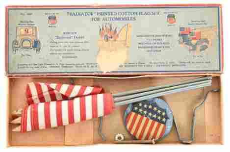"""Radiator"" Printed Cotton Flag Set NIB"