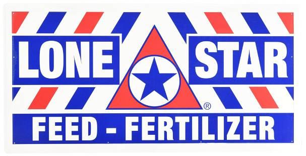 Lone Star Feed-Fertilizer Metal Sign