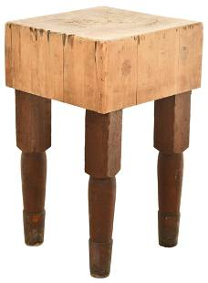 Small Hard Mable Butcher Block Table