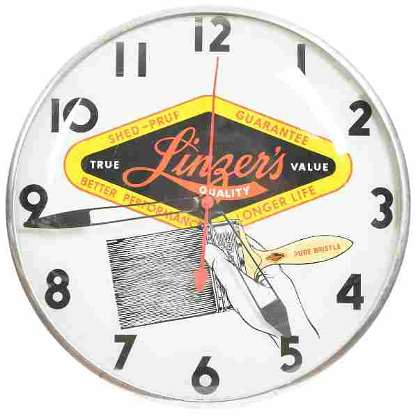 Linzer's Pure Bristle Brushes Lighted Clock