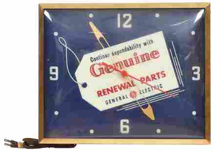 General Electric Genuine Renewal Parts Lighted Clock