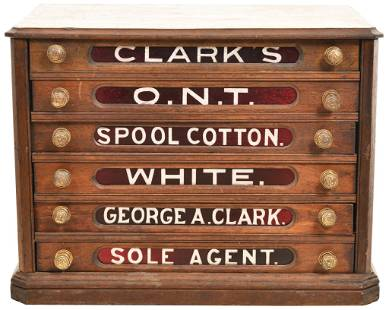 Clark's O.N.T. Spool 6-Drawer Cabinet