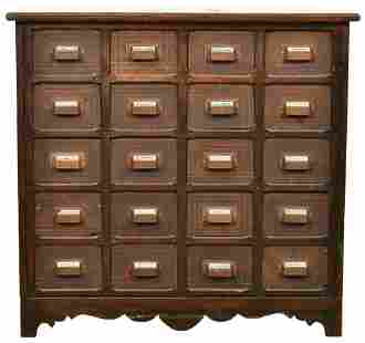 Pine Apothecary Cabinet w/20 Drawers