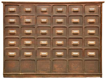 Pine Apothecary Cabinet w/30 Drawers