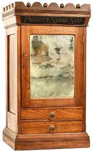 Potter's Spool Silk Oak Eastlake Style Spool Cabinet
