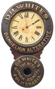"Dr. Whites Dandelion Alterative ""Cough Remedy"" Ad Clock"
