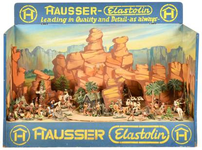 Hausser Elastolin Cowboy & Indian Show Room Diorama