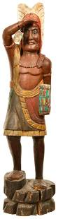 Wooden Cigar Store Indian Statue
