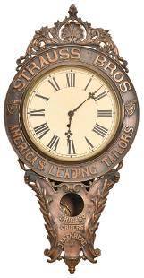 Strauss Bros. America's Leading Tailors Brass Clock