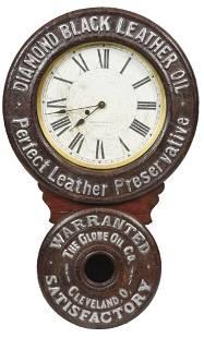 Diamond Black Leather Baird Clock Co. Pittsburg, Pa.