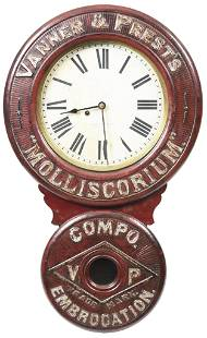 "Vanner & Prests ""Molliscorium"" Advertising Clock Baird"