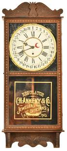 Gilbert Regulator Clock C.H. Ankeny & Co. Indy