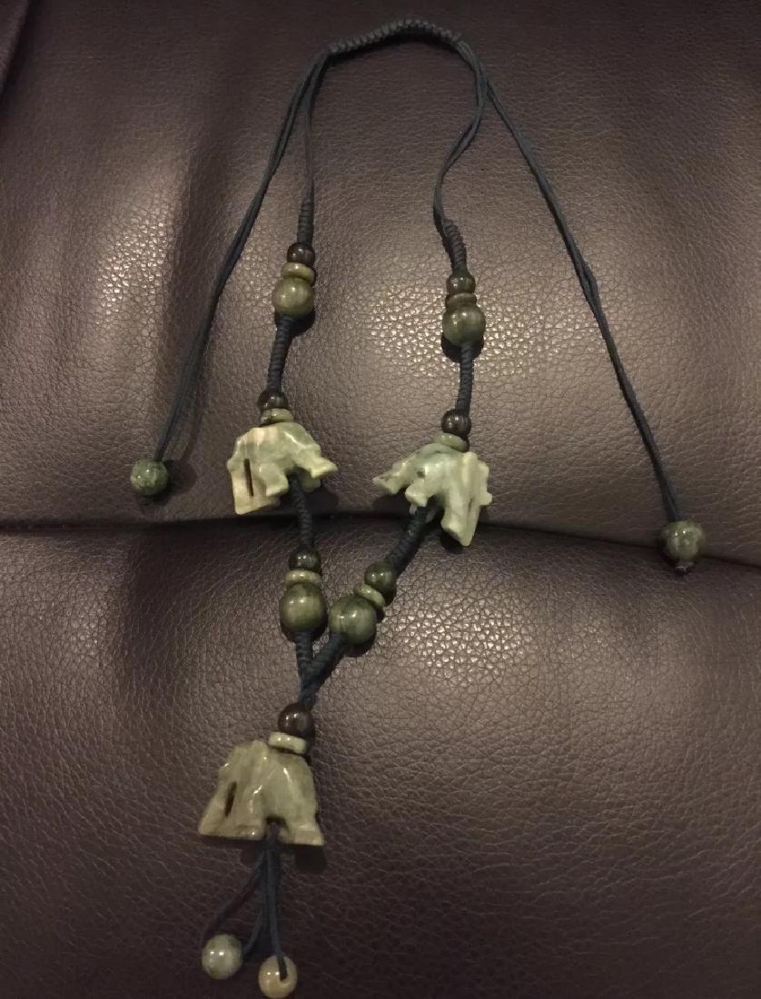 BURMESE JADE ELEPHANT NECKLACE - 2