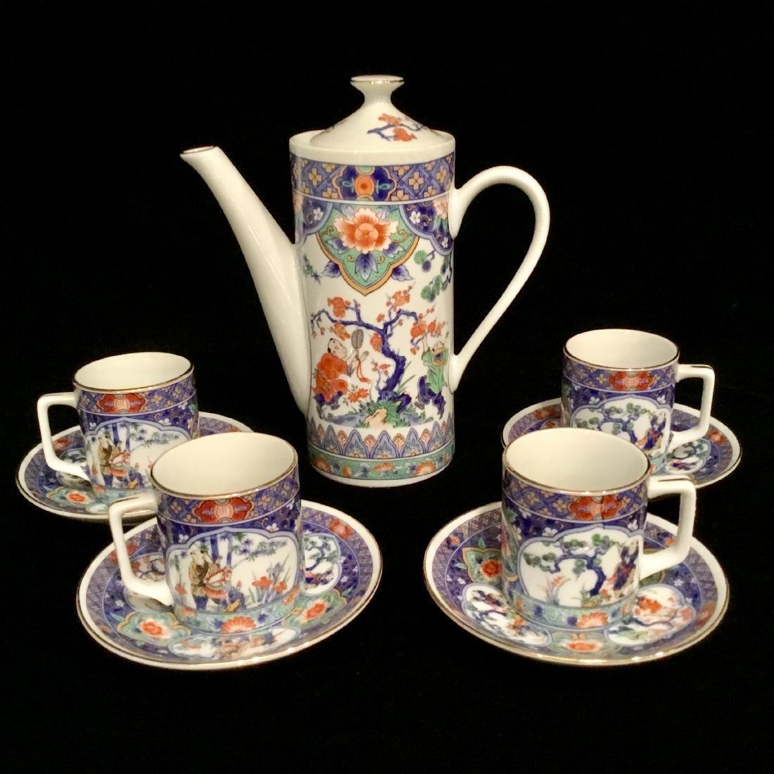 ASIAN CERAMIC TEA SET MARKED