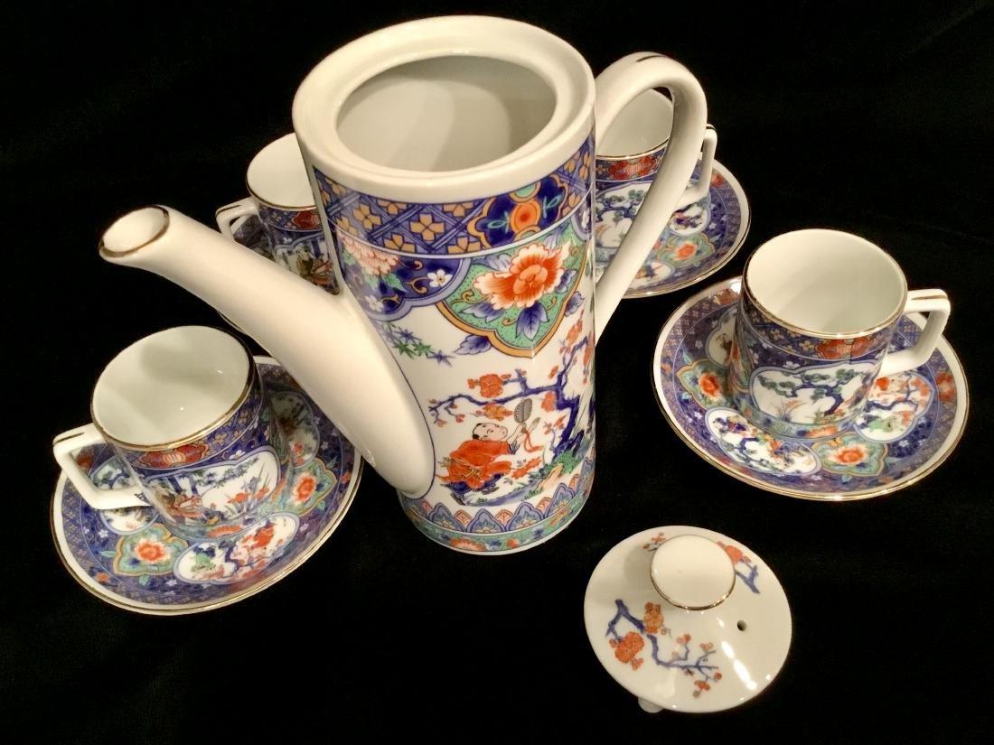 ASIAN CERAMIC TEA SET MARKED - 8