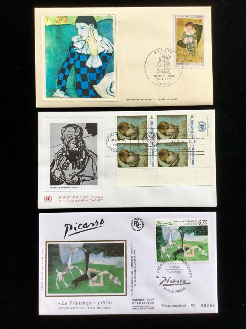 PABLO PICASSO PAINTER STAMPS