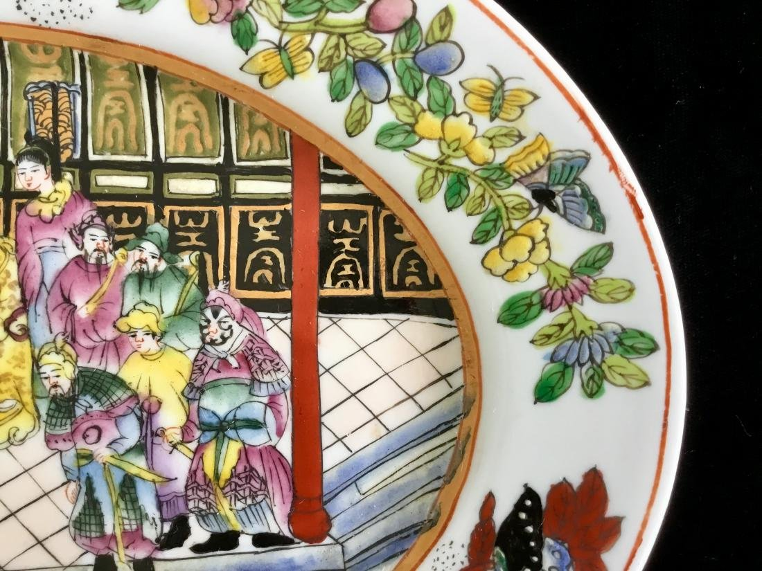 CHINESE PORCELAIN FAMILLE OVAL PLATE W MARK - 3