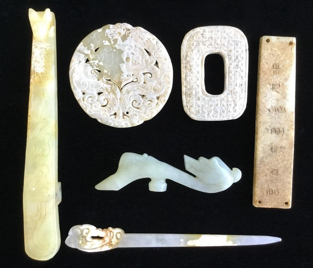 A GROUP OF CHINESE JADE ITEMS