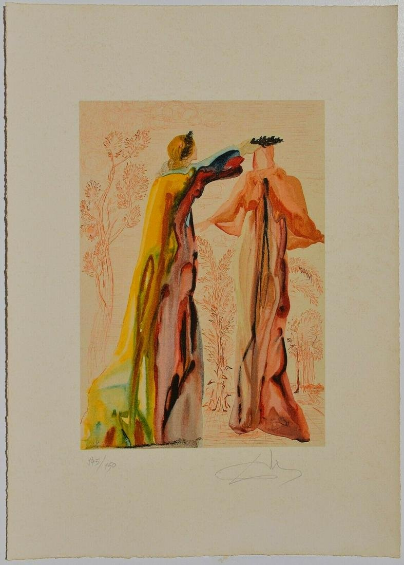 SALVADOR DALI PENCIL SIGNED LITHOGRAPH