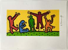 KEITH HARING SIGNED LITHOGRAPH