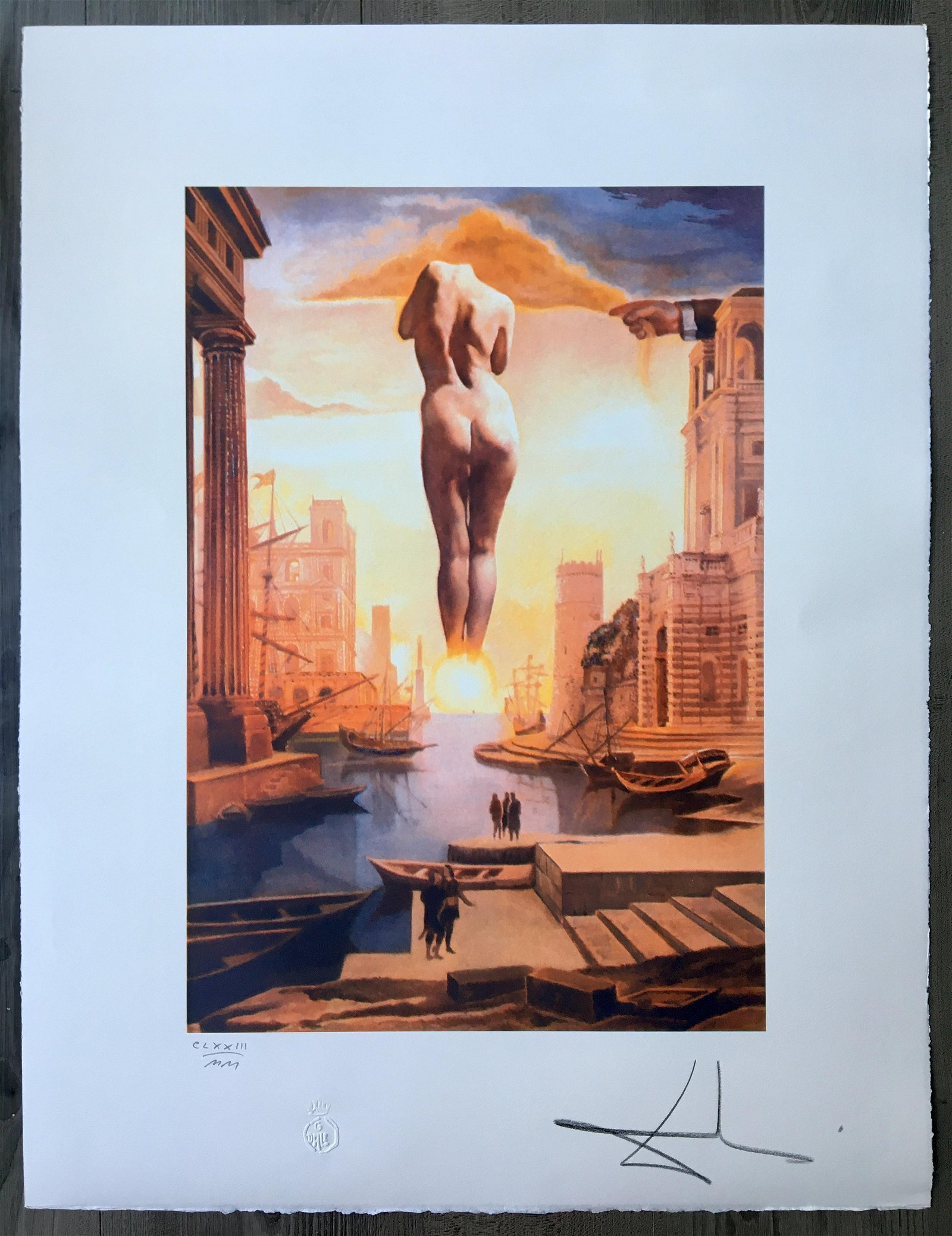 SALVADOR DALI SIGNED AND NUMBERED LARGE LITHOGRAPH