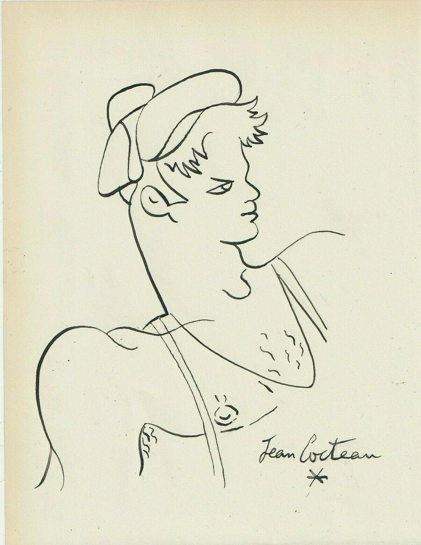 JEAN COCTEAU INK ON PAPER