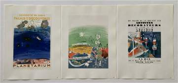 LOT OF 3 PRINTS OF RAOUL DUFY POSTERS