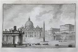 ARCHITECTURAL PRINT OF THE ST PETER BASILICA VATICAN