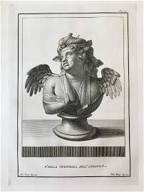 18th C NEOCLASSICAL ROMAN BUST ENGRAVING