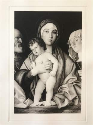 ETCHING AFTER GIOVANNI BELLINI THE VIRGIN AND CHILD