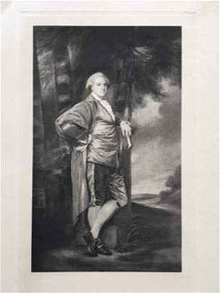 ETCHING GEORGE ROMNEY MR. JEREMIAH MILLES