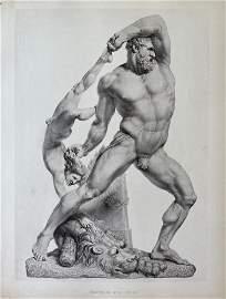 HERCULES ENGRAVING AFTER ANTONIO CANOVA