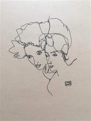 EGON SCHIELE INK ON PAPER