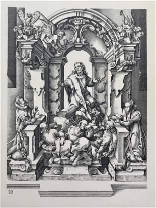 ANTIQUE GOTHIC ARCHITECTURAL PRINT WENDEL DIETTERLIN