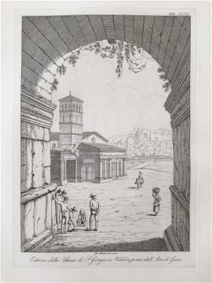 ARCHITECTURAL PRINT BASILICA DI SAN GIORGIO IN VELABRO