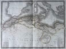 LAPIE ORIGINAL ANTIQUE MAP ALGERIA TUNISIA TRIPOLI 1829