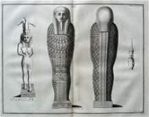 ANTIQUE EGYPTIAN ENGRAVING ISIS