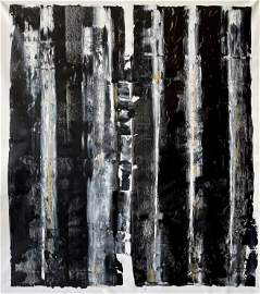 LARGE ABSTRACT ACRYLIC ON CANVAS PAINTING 68X60 IN