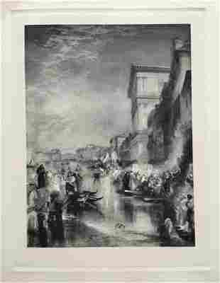 ETCHING AFTER J M W TURNER THE MARRIAGE OF THE ADRIATIC