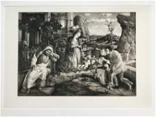 ETCHING AFTR ANDREA MANTEGNA ADORATION OF THE SHEPHERDS