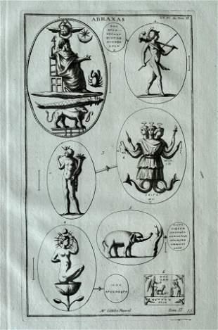 ANTIQUE ENGRAVING ANCIENT ROME ABRAXAS