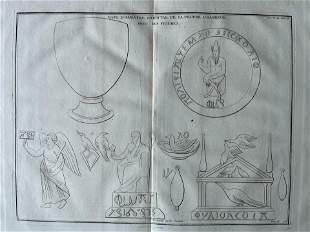 ANTIQUE ENGRAVING ANCIENT GREECE VASE